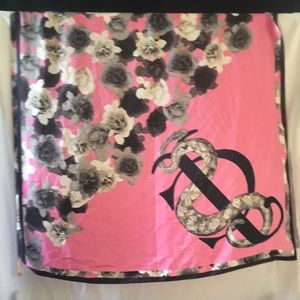 Juicy Couture silk floral scarf
